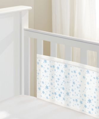 BreathableBaby 2-sided mesh cot liner - twinkle blue