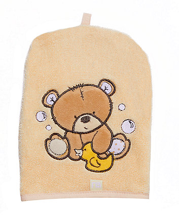 mothercare teddy's toy box cuddle 'n' dry and mitt