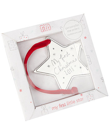 my first christmas silver star decoration