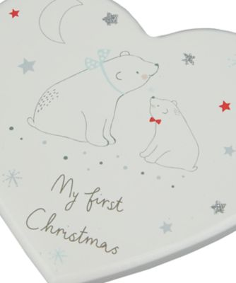 my first christmas plaque