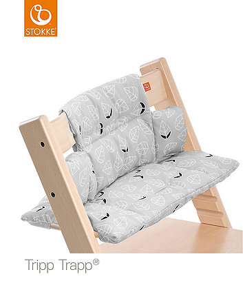Stokke® Tripp Trapp® classic baby cushion - grey leaf