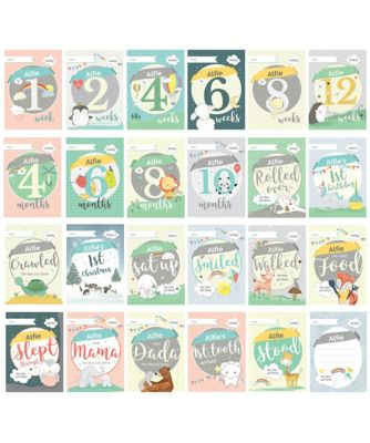 personalised baby cards for milestone moments