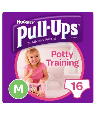 Huggies pull ups day time potty training pants pink - medium (16 pants)