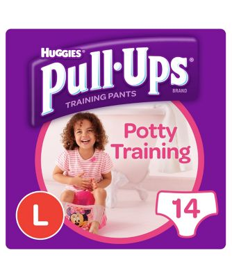 Huggies pull ups day time potty training pants pink - large (14 pants)
