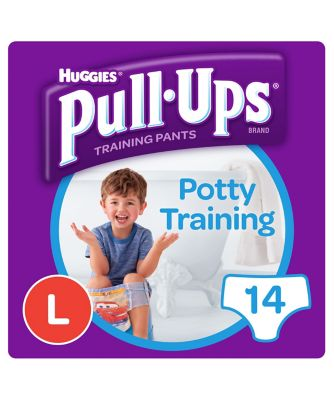 Huggies pull ups day time potty training pants blue - large (14 pants)