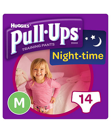 Huggies pull ups night time potty training pants pink - medium (14 pants)