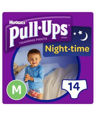 Huggies pull ups night time potty training pants blue - medium (14 pants)
