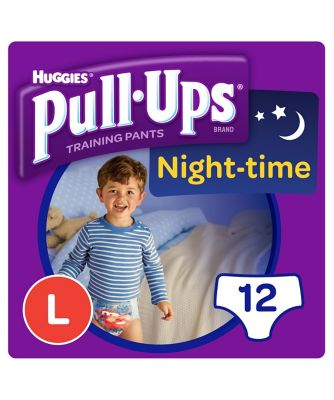Huggies pull ups night time potty training pants blue - large (12 pants)