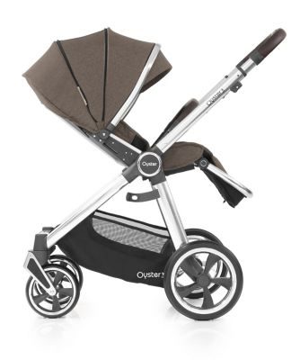 Oyster 3 stroller - mirror chassis with truffle fabric