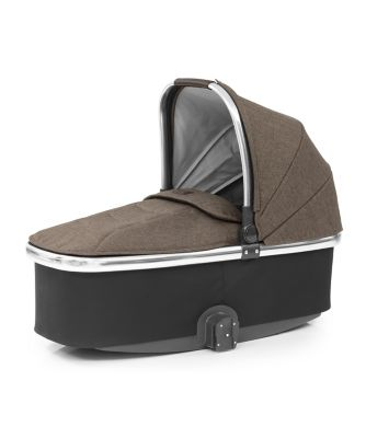 Oyster 3 carrycot with mirror frame and truffle fabric