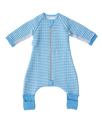 The Gro Company blue stripe groromper toddler bedding (12-24 months, cosy)