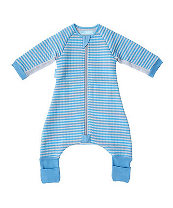 The Gro Company blue stripe groromper toddler bedding (24-36 months, cosy)