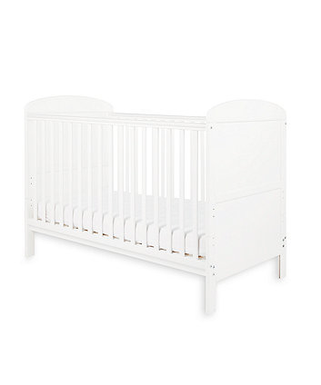 Little Acorns harbour cot bed - white