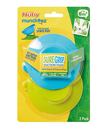 Nuby muncheez sure grip suction pads (6 months+) - 2 pack