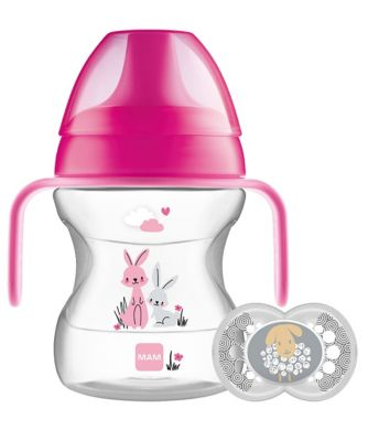 MAM learn to drink 190ml cup and handles - pink