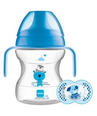 MAM learn to drink 190ml cup and handles - blue