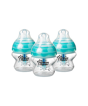 Tommee Tippee advanced anti-colic 150ml baby bottles - 3 pack