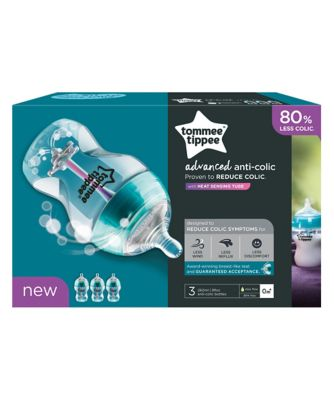 Tommee Tippee advanced anti-colic 260ml baby bottles - 3 pack