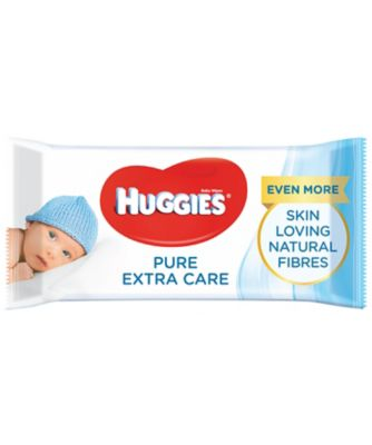 Huggies pure extra care baby wipes - 56 wipes