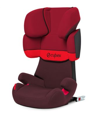 Cybex solution x fix highback booster seat - rumba red