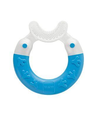 Mam bite and brush teether - blue