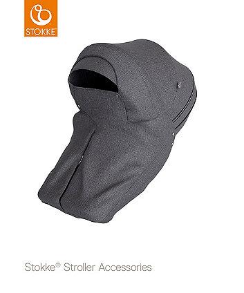 STOKKE® stroller storm cover  - black melange