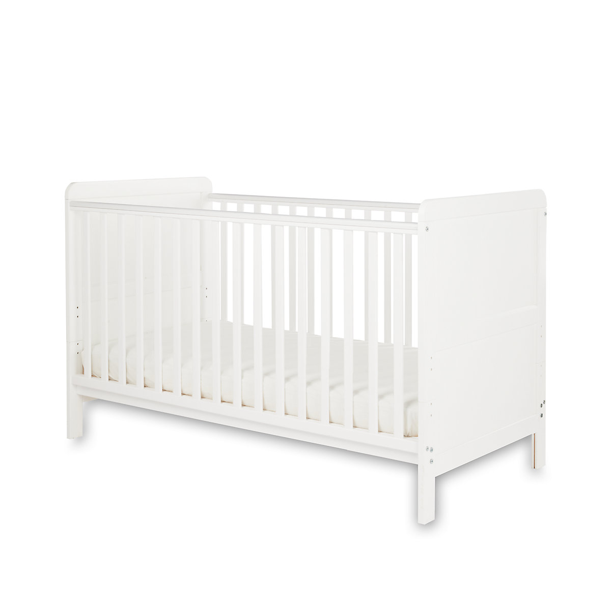 Little Acorns Classic Cot Bed   White