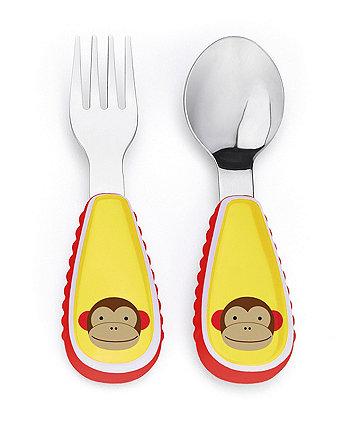 Skip Hop zootensils fork and spoon set - monkey