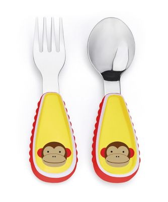 Skip Hop zootensils fork and spoon set - monkey