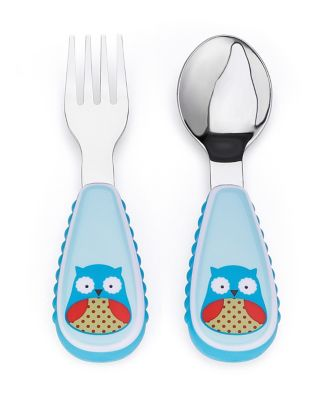 Skip Hop zootensils fork and spoon set - owl