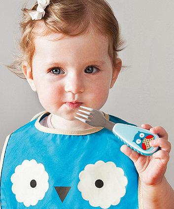 Skip Hop zootensils fork and spoon set - owl