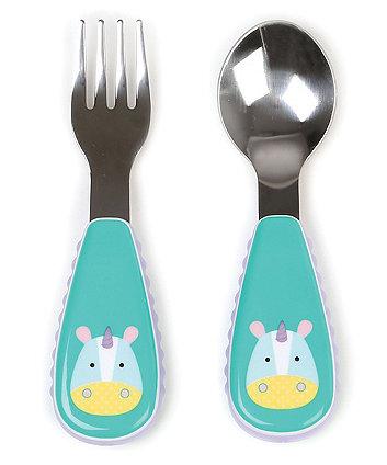 Skip Hop zootensils fork and spoon set - unicorn