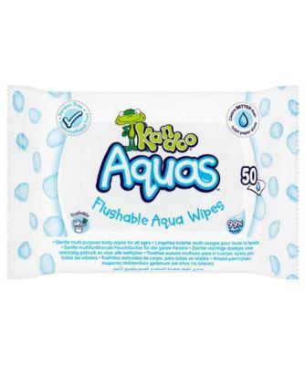 Kandoo aquas (50s) flusahable aqua wipes