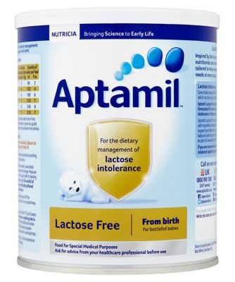 Aptamil lactose free baby milk formula from birth 400g