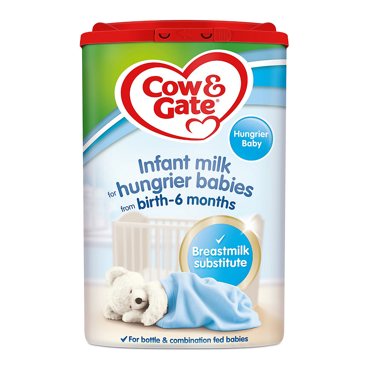 Cow & Gate hungry baby milk formula from birth 800g