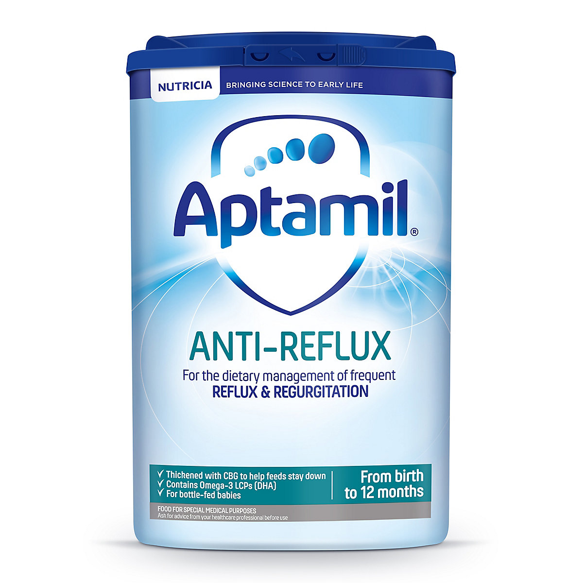 Aptamil anti-reflux baby milk formula from birth 800g