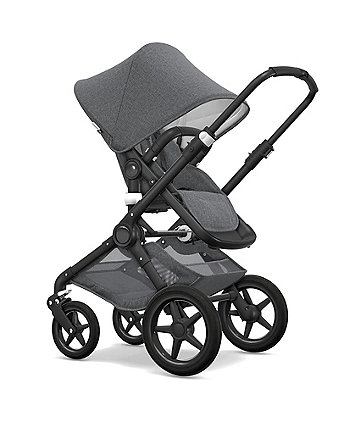 Bugaboo fox classic pram and pushchair – grey melange/black