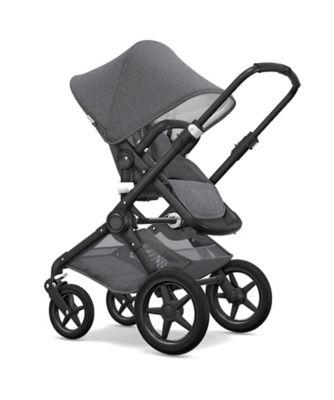 Bugaboo fox classic pram and pushchair – grey melange/black