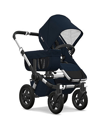 Bugaboo donkey2 classic mono pram and pushchair – dark navy / aluminium *exclusive to mothercare*