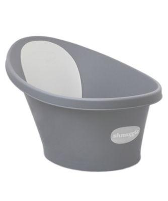 Shnuggle bath with slate grey backrest