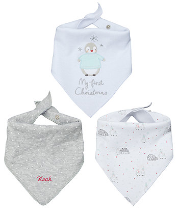 personalised my first christmas dribbler set - 3 pack