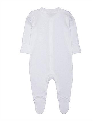 personalised my 1st christmas sleepsuit