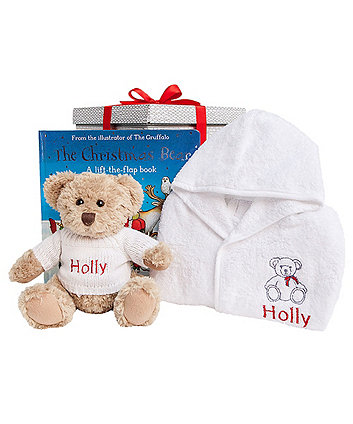 babyblooms bertie bear's christmas bedtime set 6-12 months