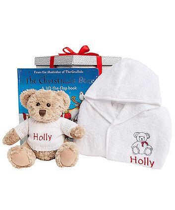 babyblooms bertie bear's christmas bedtime set 1-2 years