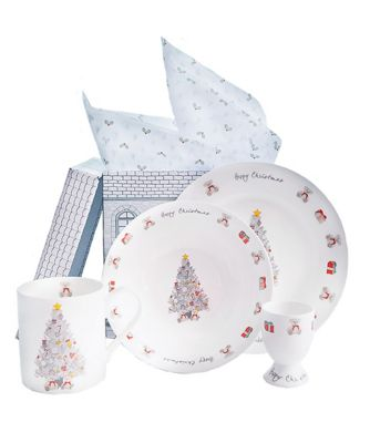 babyblooms christmas morning bone china breakfast set