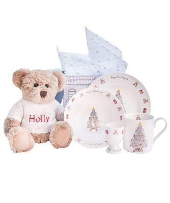 babyblooms bertie bear's christmas morning breakfast set
