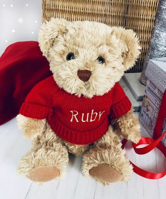 babyblooms personalised 2019 bertie bear - red