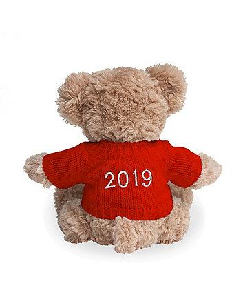 babyblooms personalised 2019 bertie bear - red