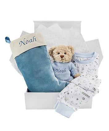 babyblooms blue bertie bear's christmas eve hamper (12-18 months)