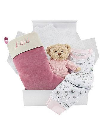 babyblooms pink bertie bear's christmas eve hamper (12-18 months)